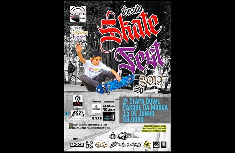 Parque da Mooca (SP) recebe 2ª Etapa – Bowl do Circuito Skate Fest 2019